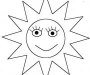 Coloriage et dessins gratuit Soleil Nuage couleur à imprimer