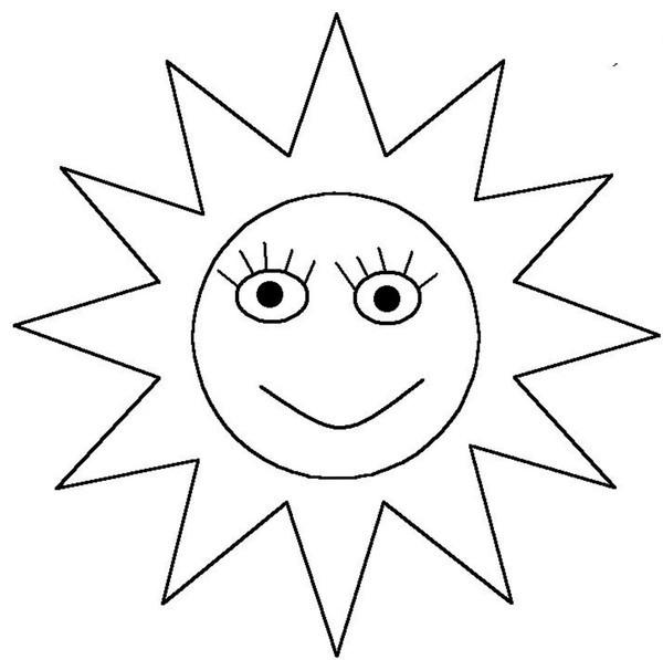 Coloriage et dessins gratuits Soleil Nuage couleur à imprimer