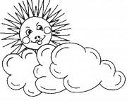 Coloriage et dessins gratuit Soleil Nuage crayon à imprimer