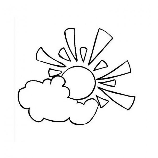 Coloriage soleil nuage facile dessin gratuit imprimer - Dessin de soleil a imprimer ...