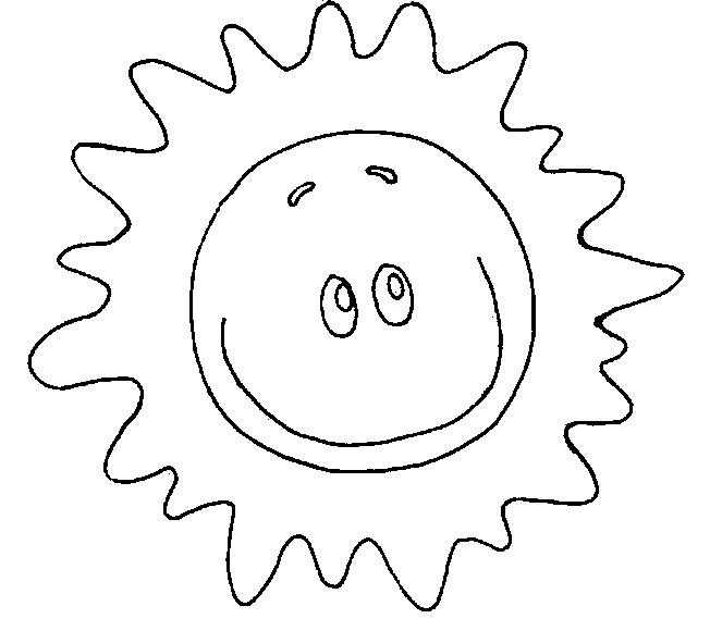 Coloriage et dessins gratuits Soleil qui brille en souriant à imprimer
