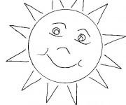 Coloriage et dessins gratuit Soleil simple à imprimer