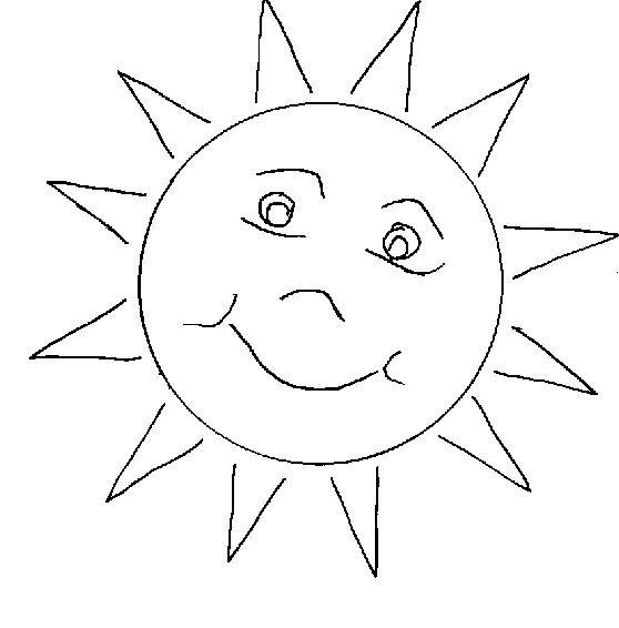 Coloriage soleil simple dessin gratuit imprimer - Dessin geometrique a colorier ...