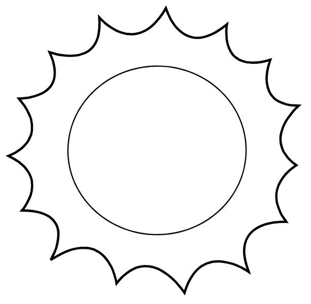 Coloriage et dessins gratuits Soleil simple à compléter à imprimer