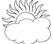 Coloriage et dessins gratuit Un jour nuageux à imprimer