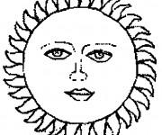 Coloriage Image de Soleil