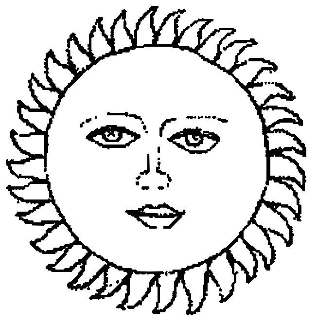 Coloriage et dessins gratuits Image de Soleil à imprimer