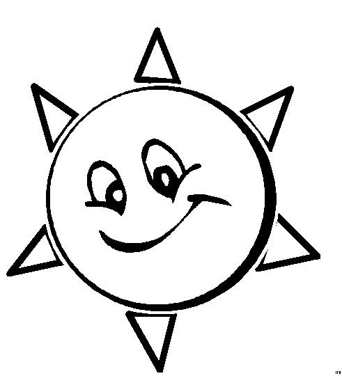 Coloriage et dessins gratuits Le Soleil animé à imprimer