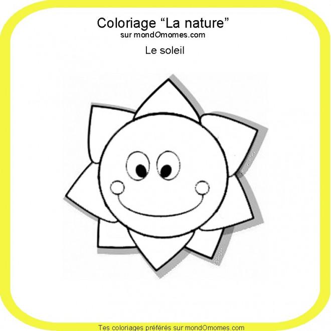 Coloriage et dessins gratuits Le Soleil nature à imprimer
