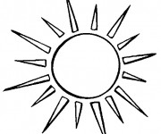 Coloriage dessin  Mandala Soleil 36