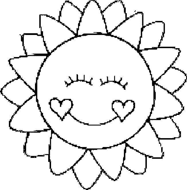 Coloriage et dessins gratuits Mandala Soleil aimable à imprimer