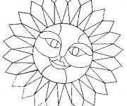 Coloriage Mandala Soleil avec visage