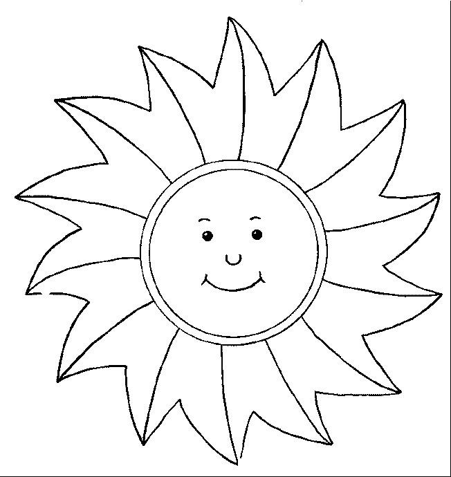 Coloriage et dessins gratuits Rayons de soleil stylisés à imprimer