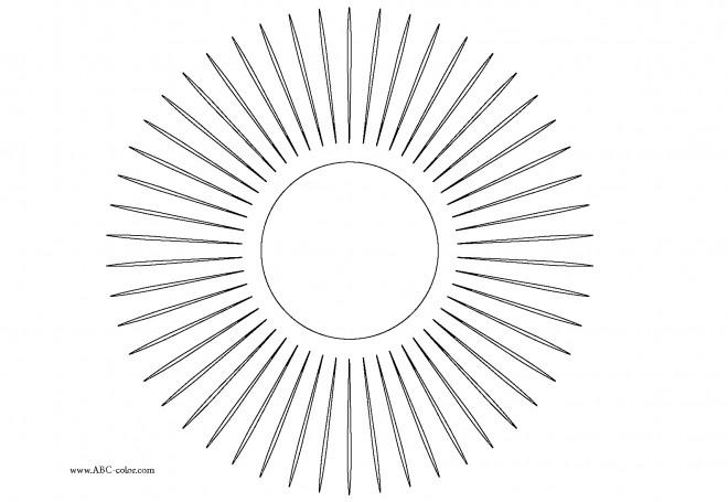 Coloriage et dessins gratuits Rayons solaires en ligne à imprimer