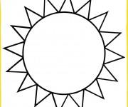Coloriage dessin  Soleil 12