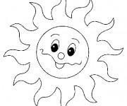 Coloriage dessin  Soleil 2