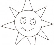 Coloriage dessin  Soleil 6