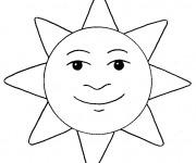 Coloriage Soleil à décorer