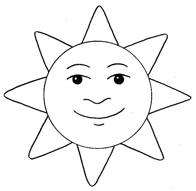 Coloriage et dessins gratuits Soleil à décorer à imprimer