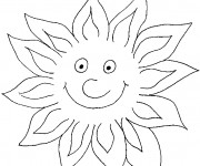 Coloriage Soleil amusant