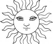 Coloriage Soleil avec beaux yeux