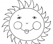 Coloriage Soleil avec petits yeux