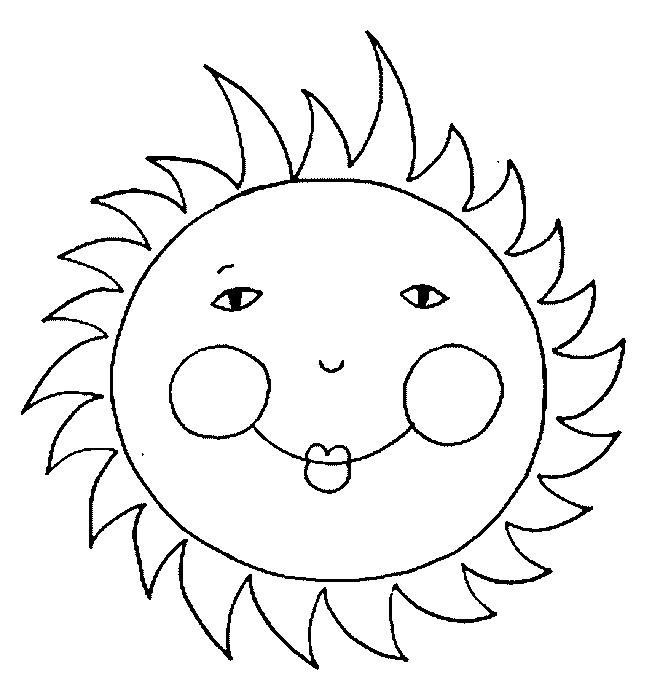 Coloriage et dessins gratuits Soleil avec petits yeux à imprimer