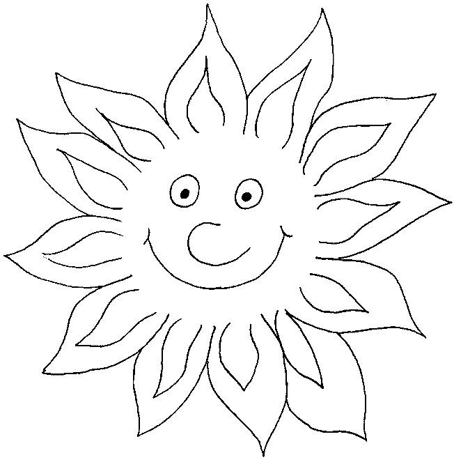 Coloriage et dessins gratuits Soleil brille en couleur à imprimer