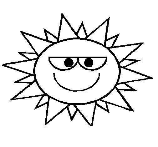 Coloriage et dessins gratuits Soleil comique à imprimer