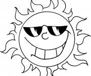 Coloriage Soleil d'été