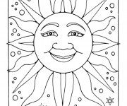 Coloriage Soleil dans l'espace