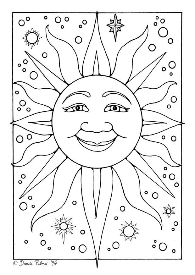 Coloriage et dessins gratuits Soleil dans l'espace à imprimer
