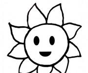 Coloriage Soleil dessin pour enfant