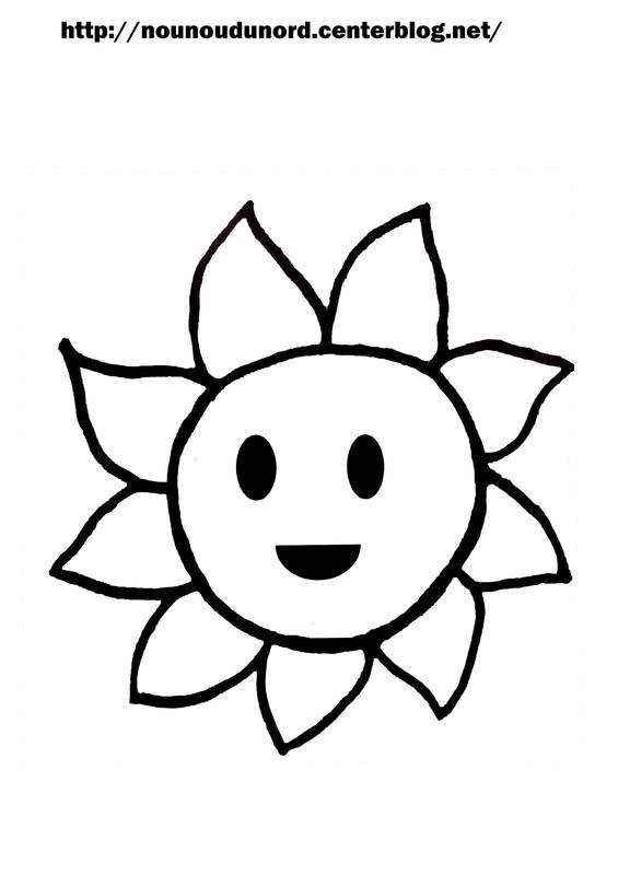 Coloriage et dessins gratuits Soleil dessin pour enfant à imprimer