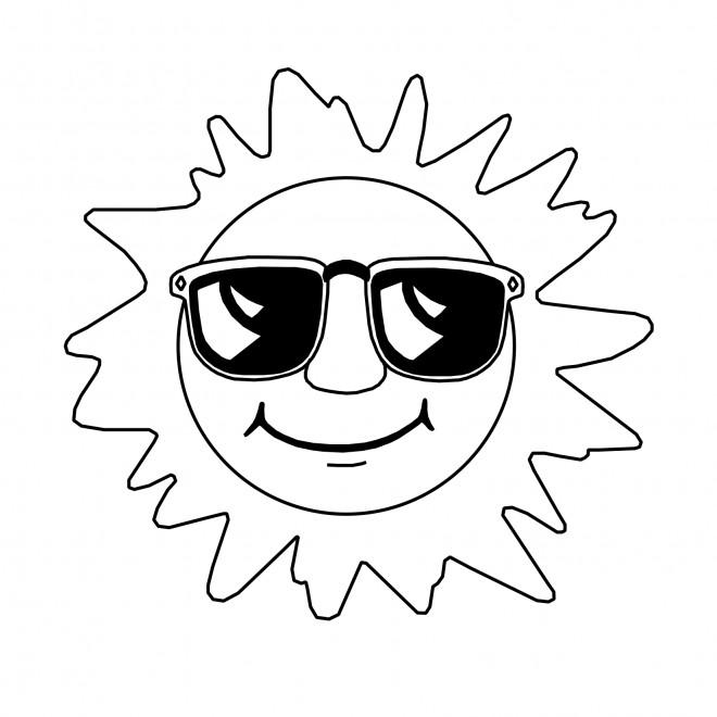 Coloriage et dessins gratuits Soleil élégant à imprimer