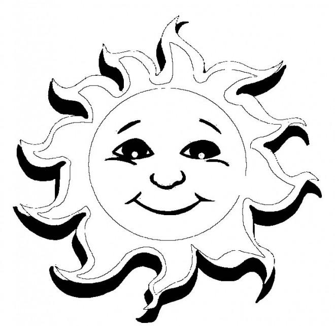 Coloriage et dessins gratuits Soleil en 3D à imprimer