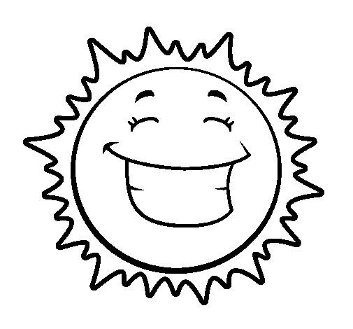 Coloriage et dessins gratuits Soleil en bon humeur à imprimer
