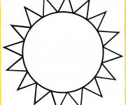 Coloriage Soleil en couleur
