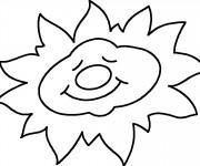 Coloriage Soleil en dormant