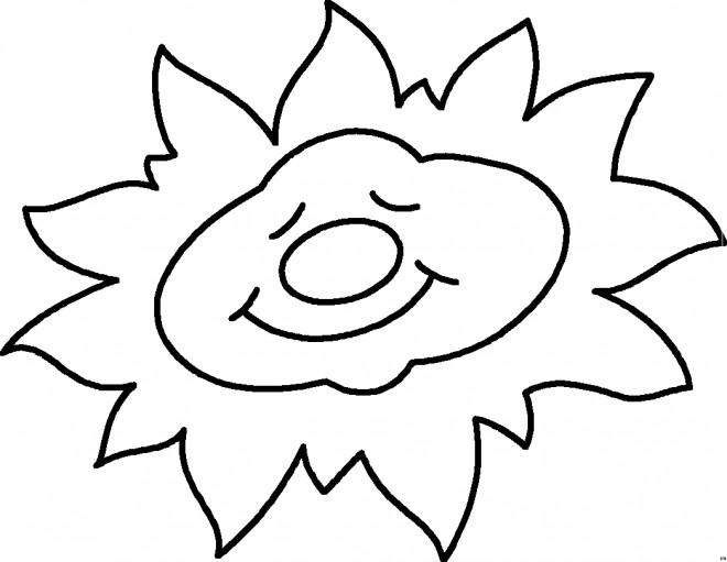 Coloriage et dessins gratuits Soleil en dormant à imprimer