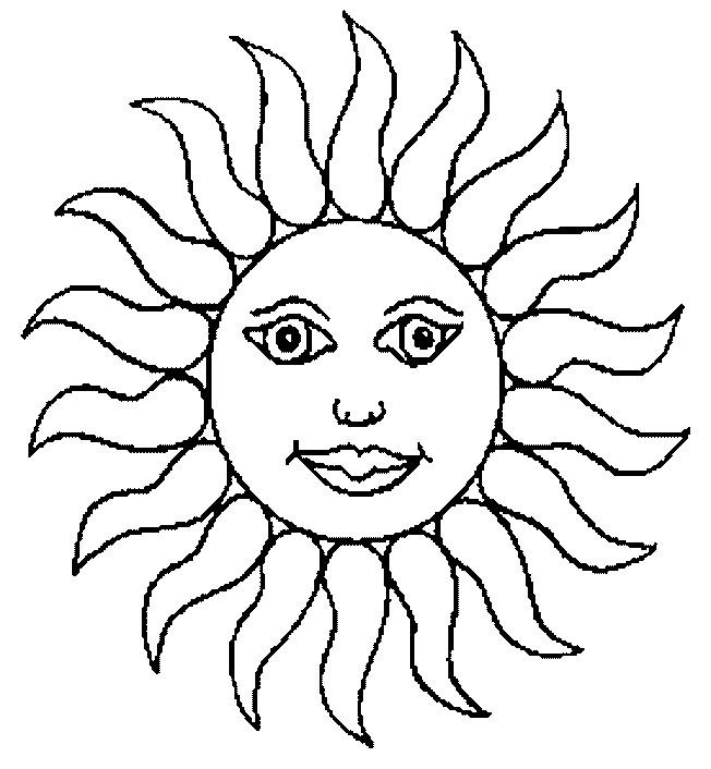 Coloriage et dessins gratuits Soleil en jaune à imprimer