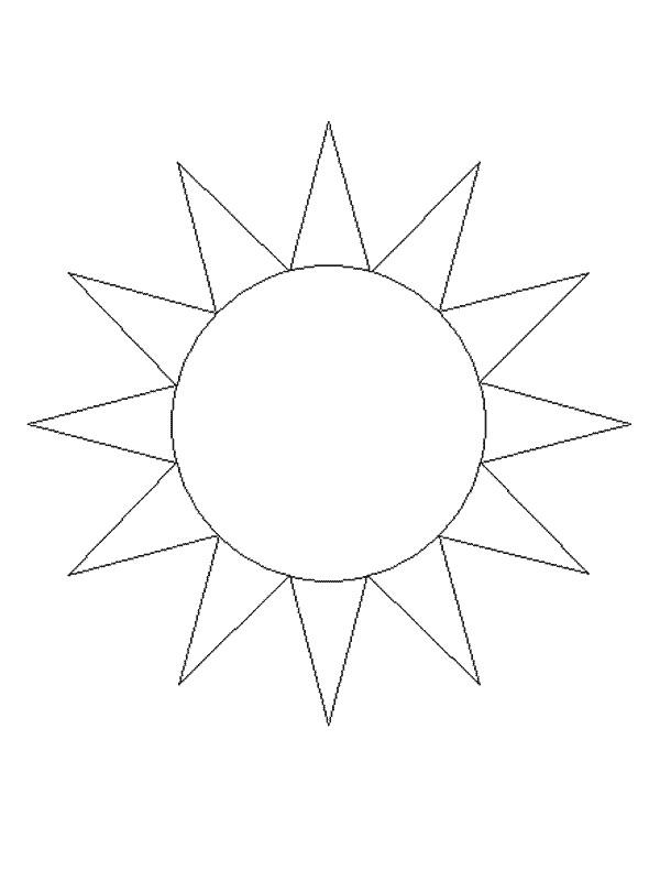 Coloriage et dessins gratuits Soleil en noir et blanc à imprimer