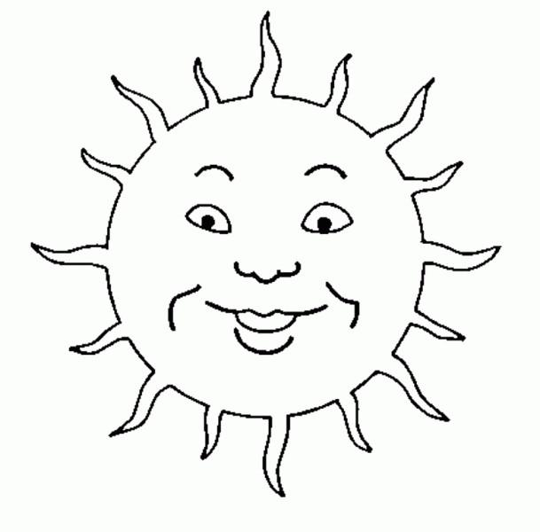 Coloriage et dessins gratuits Soleil enfant dessin à imprimer