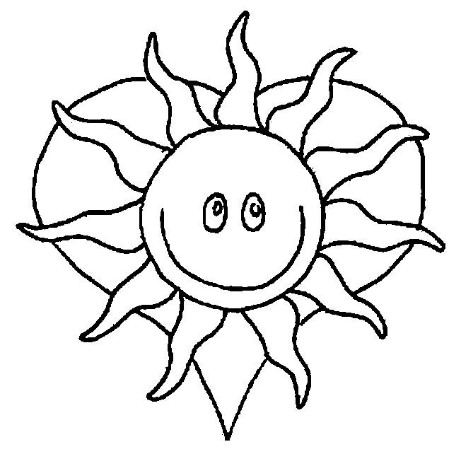 Coloriage et dessins gratuits Soleil et coeur à imprimer