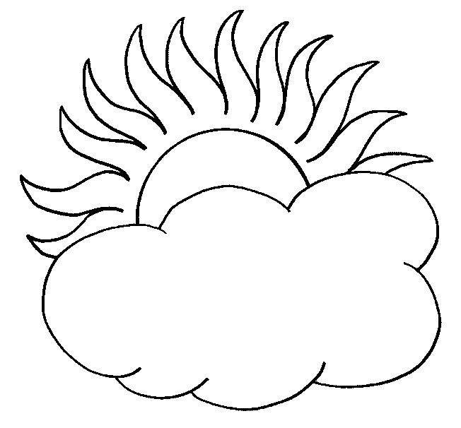 Coloriage et dessins gratuits Soleil et nuages couleur à imprimer