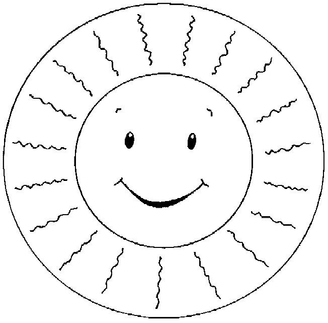 Coloriage et dessins gratuits Soleil et rayons pour enfant à imprimer