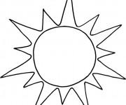 Coloriage et dessins gratuit Soleil facile à imprimer