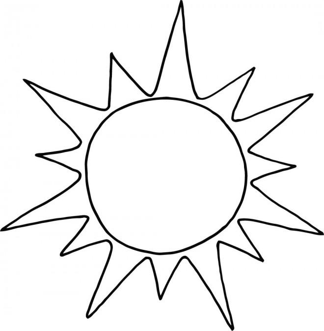 Coloriage soleil facile dessin gratuit imprimer - Dessin du soleil ...