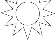 Coloriage Soleil facile pour décoration