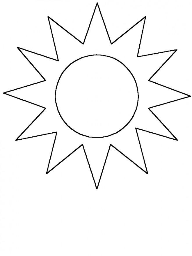 Coloriage et dessins gratuits Soleil facile pour décoration à imprimer